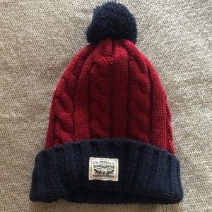 Levi Strauss & Co Cable Knit Pom Hat